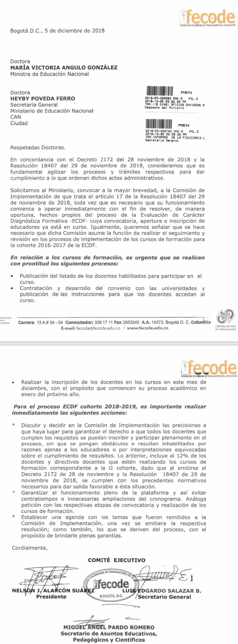 Boletin informativo 6 de diciembre de 2018 – Omar Arango Jiménez